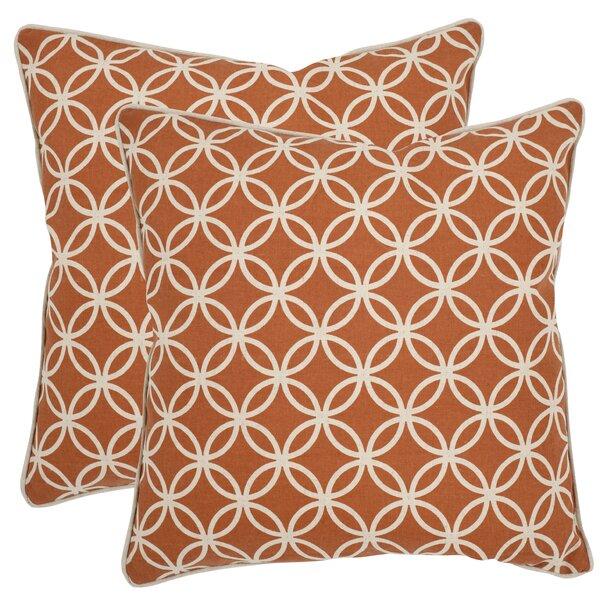 Alice Cotton Throw Pillow (Set of 2) by Safavieh