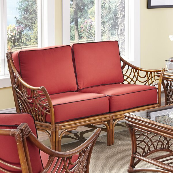 Rainey Solid Loveseat by Bayou Breeze
