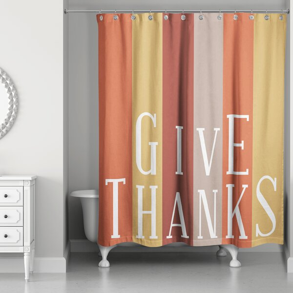 Collin Give Thanks Shower Curtain by The Holiday Aisle