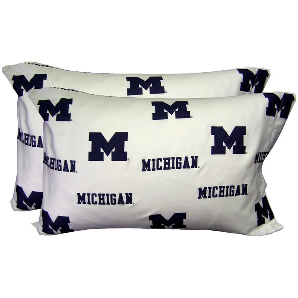 NCAA Michigan Pillowcase (Set of 2) by College Covers