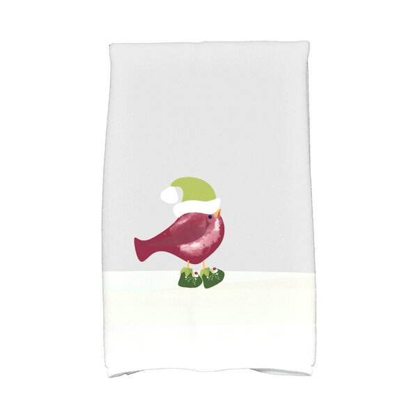 Merry Christmas Bird Hand Towel by The Holiday Aisle