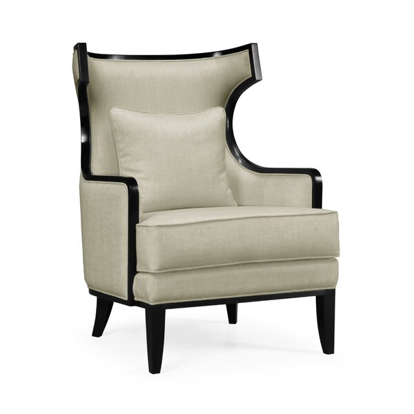 Knightsbridge Biedermeier Greek Revival Formal Occasional Wingback Chair by Jonathan Charles Fine Furniture