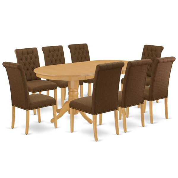 Bovingdon 9 Piece Extendable Solid Wood Dining Set by Winston Porter Winston Porter