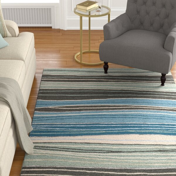 Kirkbride Gray/Blue Area Rug by Charlton Home