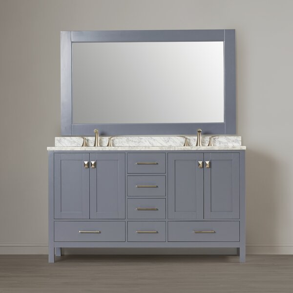 Middletown 60 Double Bathroom Vanity Set with Mirror by Andover Mills