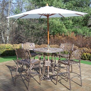 Thelma 5 Piece Bar Height Dining Set By Astoria Grand