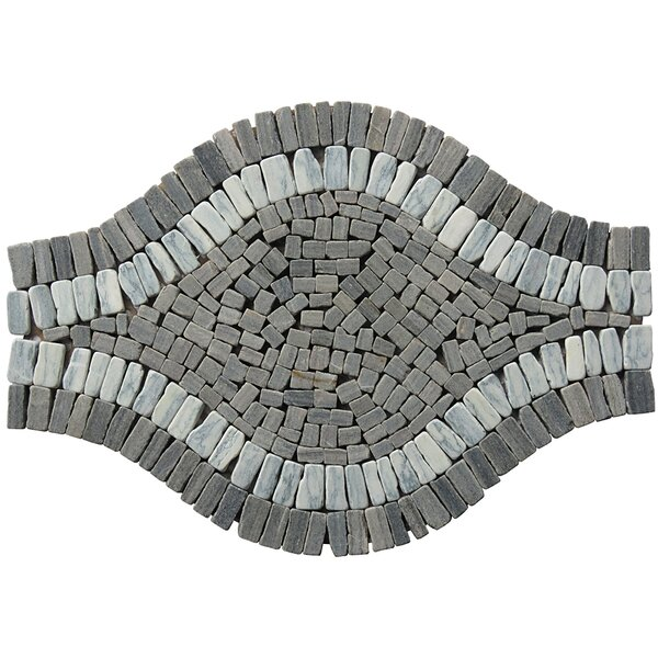 Landscape Wonder 17 x 12 Wavy Stone Blend Mosaic Tile in Gray by Intrend Tile