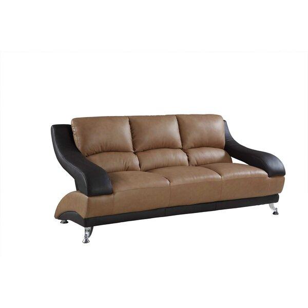 Henshaw Leather Sofa by Latitude Run