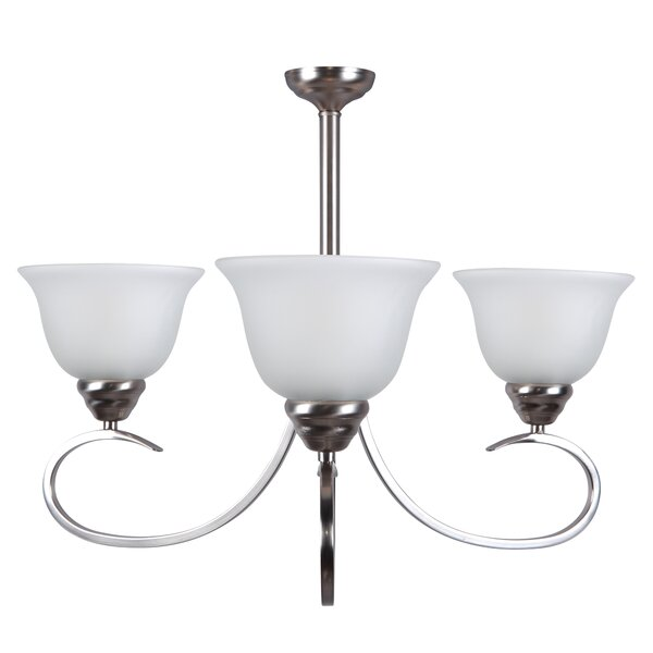 Gibson 3-Light Shaded Chandelier by Andover Mills
