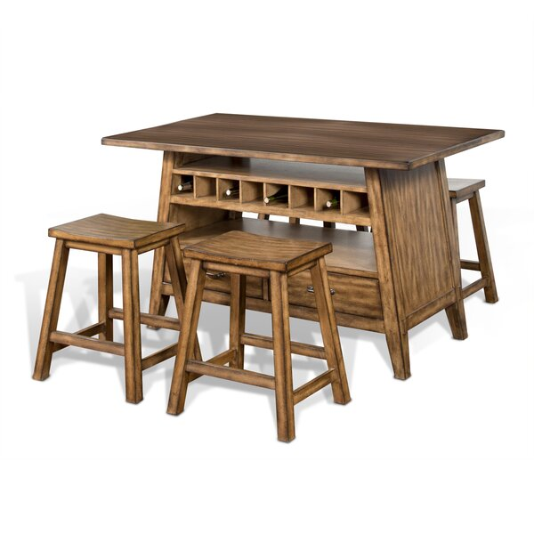 Magdalena 5 Piece Pub Table by Loon Peak