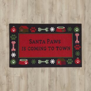 Compare prices Santa Paws Red Area Rug ByThe Holiday Aisle