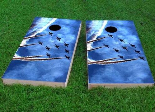 9 Jets Cornhole Game (Set of 2) by Custom Cornhole Boards