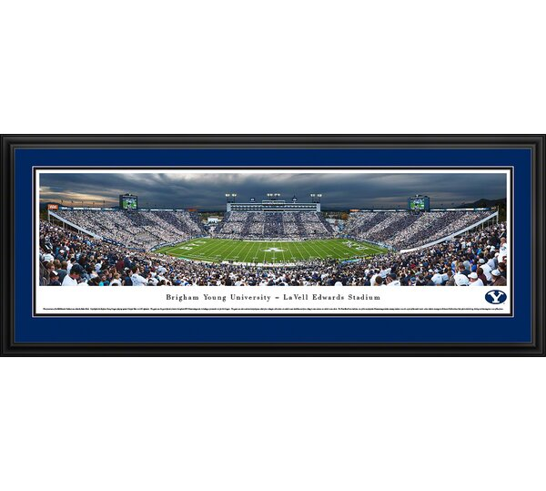 NCAA Brigham Young University - 50 Yard Line by Robert Pettit Framed Photographic Print by Blakeway Worldwide Panoramas, Inc