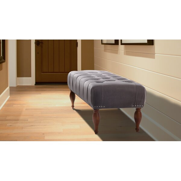 Dyer Tufted Accent Upholstered Entryway Bench by Alcott Hill