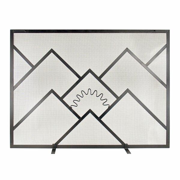 Alaria Single Panel Iron Fireplace Screen By Latitude Run