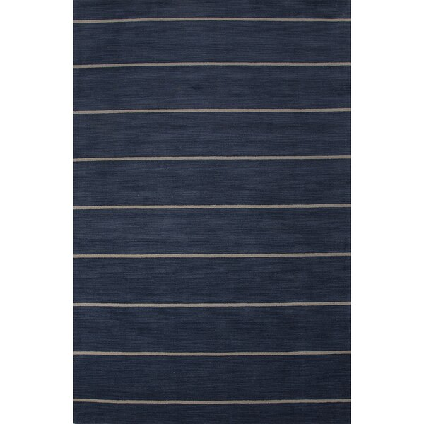 Sand Hill Wool Hand Tufted Blue Area Rug by Breakwater Bay