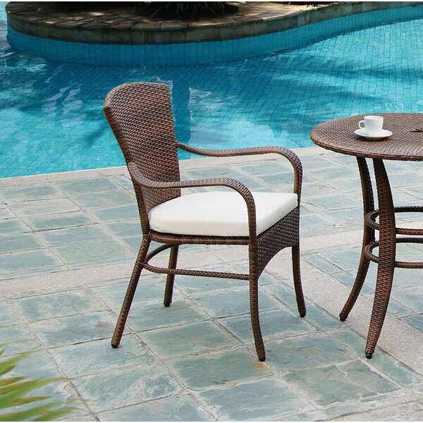 Key Biscayne Stacking Patio Dining Chair with Cushion by Panama Jack Outdoor