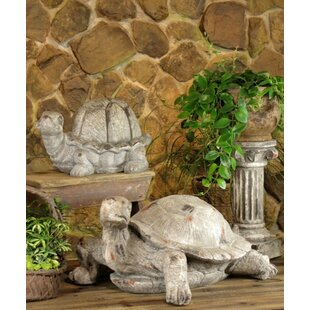 2 Piece Turtles Statue Set
