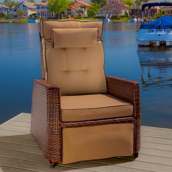 Charla Recliner Patio Chair with Cushions by Beachcrest Home Beachcrest Home
