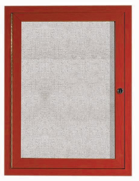 Outdoor Enclosed Wall Mounted Bulletin Board by AARCO