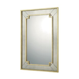 Everly Quinn Gold Leaf Decorative Accent Wall Mirror