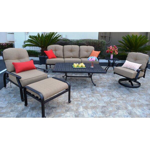 Sidney 6 Piece Sunbrella Sofa Set with Cushions by Three Posts