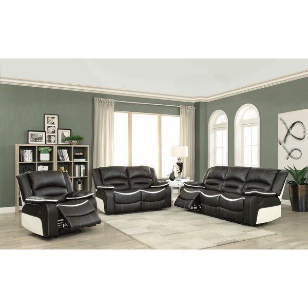 Review Burnie Motion 3 Piece Reclining Living Room Set