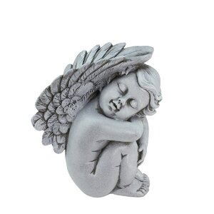 Heavenly Gardens Right Facing Sleeping Cherub Angel Outdoor Patio Garden Statue