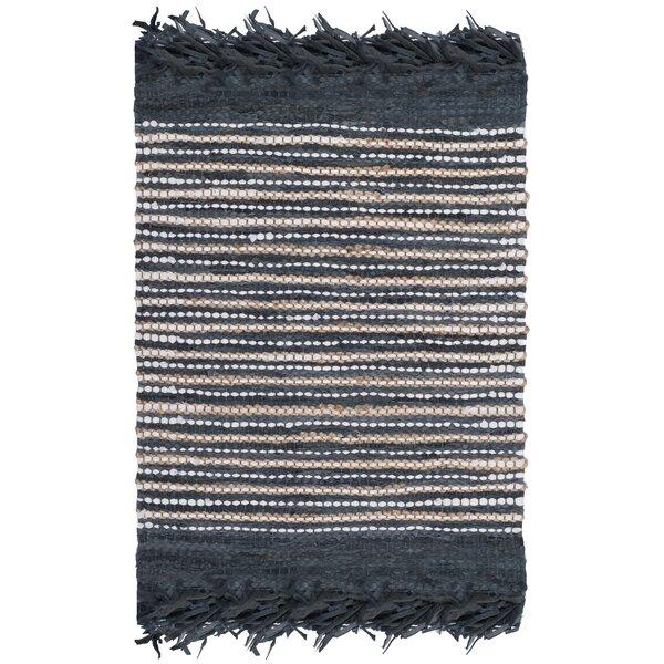 Swayze Hand Tufted Dark Gray Area Rug by Mistana