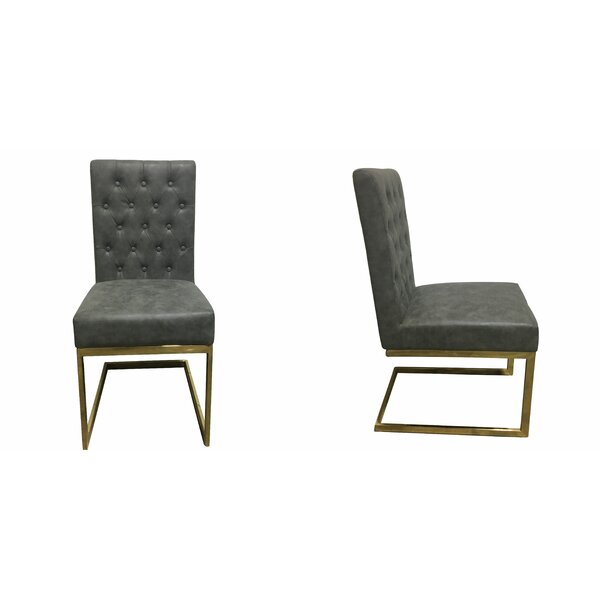 Cambell Tufted Modern Upholstered Dining Chair (Set of 2) by Williston Forge