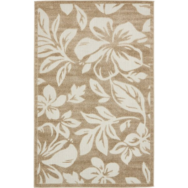 Duxbury Beige Indoor/Outdoor Area Rug by Bay Isle Home