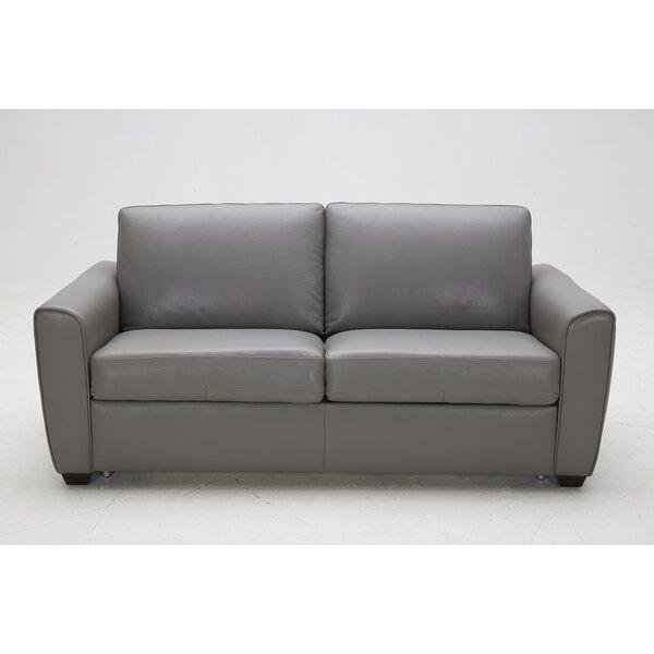Nice Chic Jasper Leather Sleeper by J&M Furniture by J&M Furniture