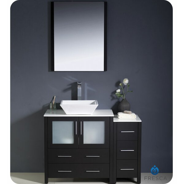 Torino 42 Single Bathroom Vanity Set with Mirror by Fresca