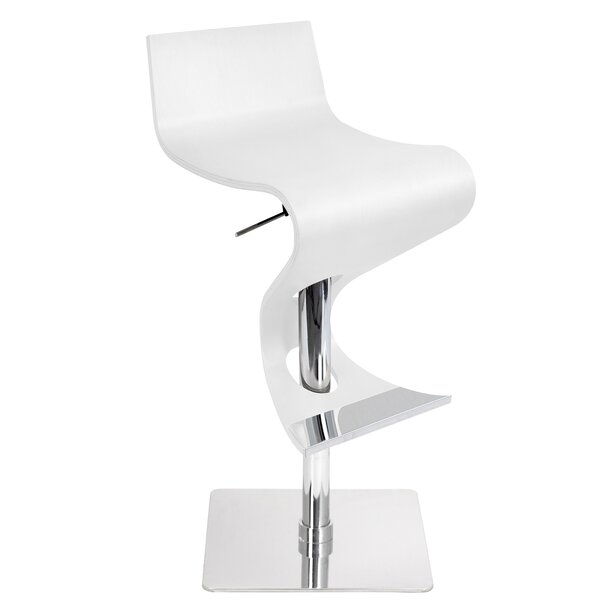 The Adjustable Height Swivel Bar Stool by Wade Logan