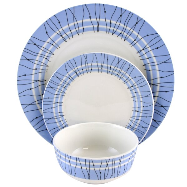 Gaynell 12 Piece Dinnerware Set, Service for 4 by Ebern Designs