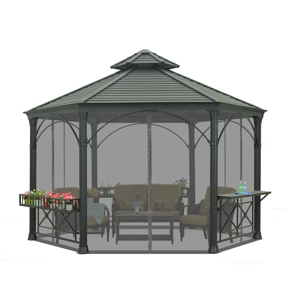 Universal Netting for Hexagonal Gazebo by Sunjoy