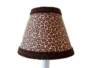 On The Plains 7 H Fabric Empire Lamp shade ( Screw on ) in Brown/Beige