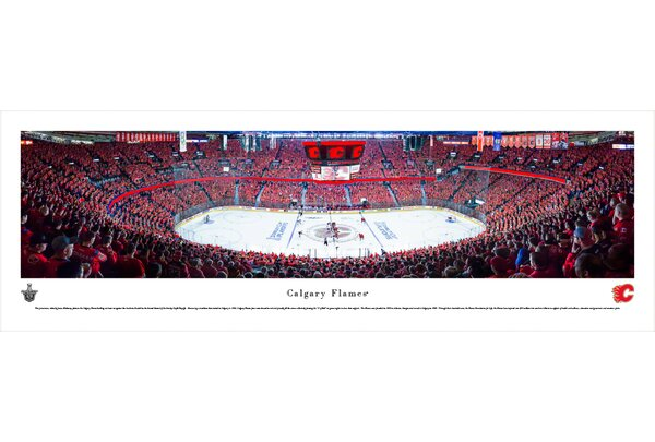 NHL Calgary Flames by James Blakeway Photographic Print by Blakeway Worldwide Panoramas, Inc