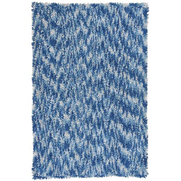 Shagadelic Blue Twist Swirl Rug by St. Croix