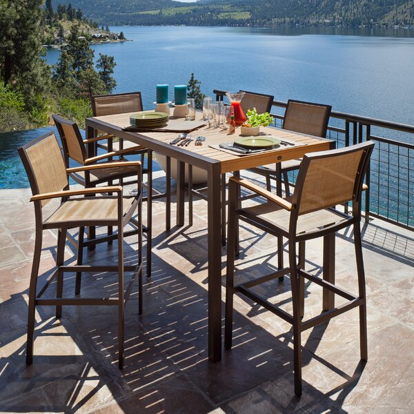 Bayline™ 7 Piece Bar Height Dining Set by POLYWOOD®