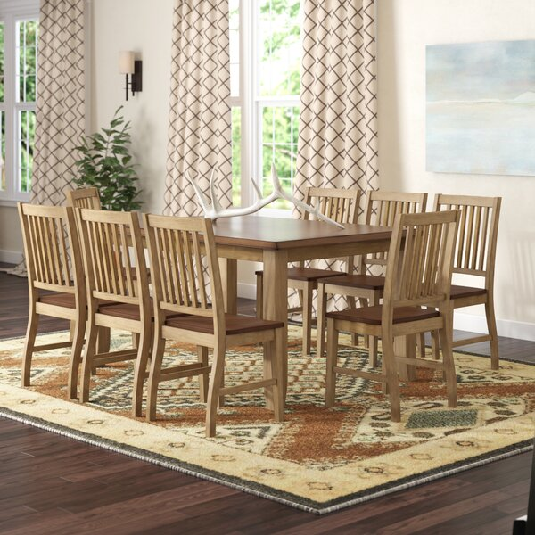 Huerfano Valley 9 Piece Extendable Solid Wood Dining Set by Loon Peak