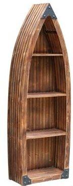 Carpenter Wood Canoe 3 Shelf Standard Bookcase by Longshore Tides