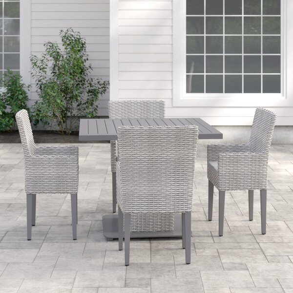 Fairfield 5 Piece Dining Set with Cushion by Sol 72 Outdoor