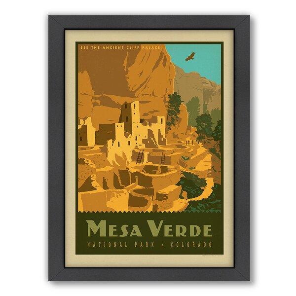 National Park Mesa Verde Framed Vintage Advertisement by East Urban Home