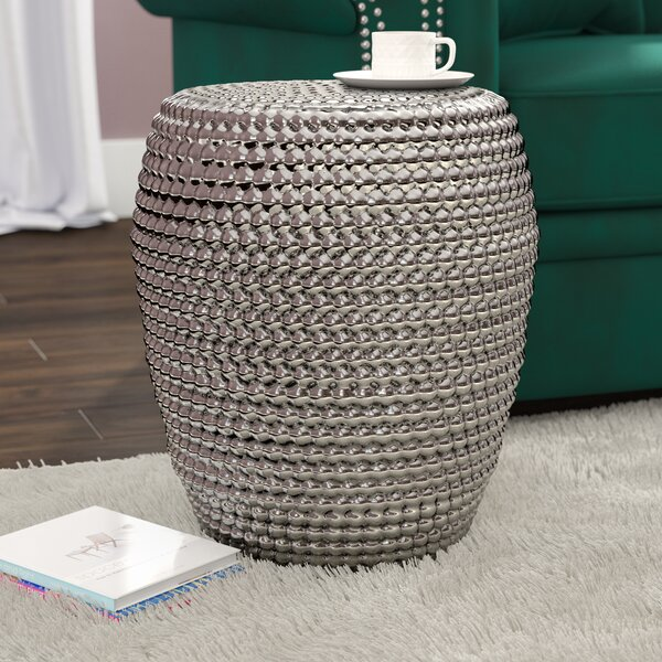 Vanessa Metallic Garden Stool by Willa Arlo Interi