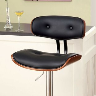 Brier Adjustable Height Swivel Bar Stool by George Oliver