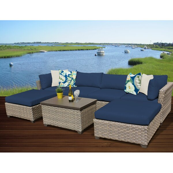 Rochford 7 Piece Rattan Sectional Seating Group with Cushions by Sol 72 Outdoor