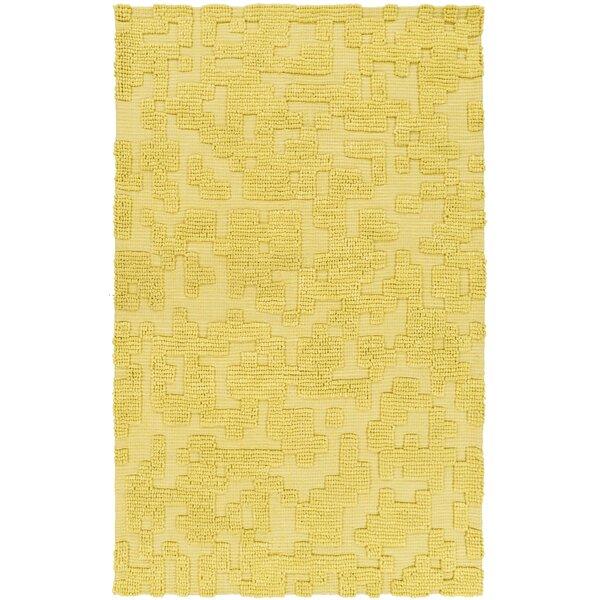 Edmonson Handmade Yellow Area Rug by Ivy Bronx