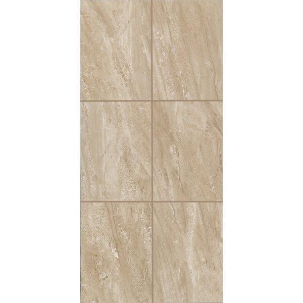 Bradwell 12 x 24 Ceramic Filed Tile in Nocino Travertine by Mohawk Flooring
