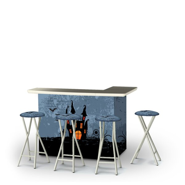 Zaddy Halloween Haunted House 5-Piece Bar Set by East Urban Home